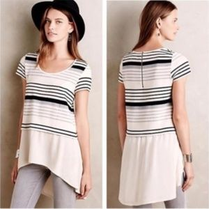 ⭐️4/$25 Anthro Deletta Striped Hi Low Tunic